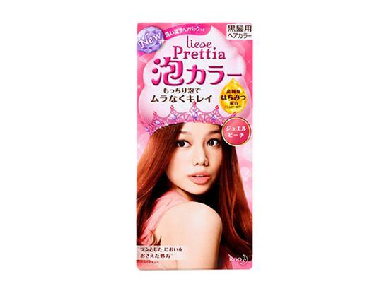 花王PRETTIA泡沫染发剂-唐嫣的自带柔光玫瑰棕发色 才是最强美白神器图片