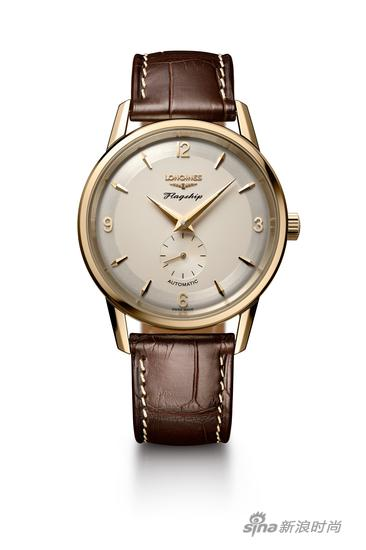 浪琴表军旗系列60周年限量款复刻18K黄金腕表