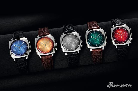 格拉苏蒂原创鎏金六零年代方形计时腕表