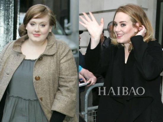 Adele今昔对比
