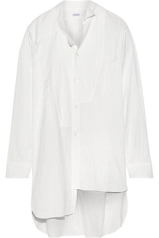 Loewe 不对称纯棉薄纱大廓形衬衫 约¥9320