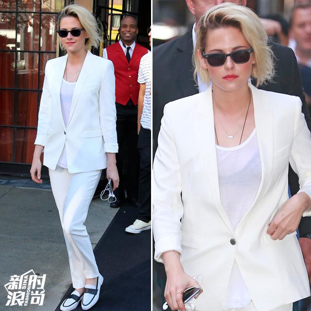 暮光女穿白色西装