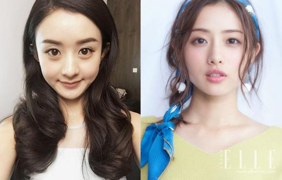 左:赵丽颖,右:石原里美