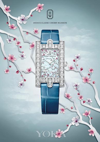 海瑞温斯顿第五大道Avenue?Classic系列 Cherry Blossom腕表