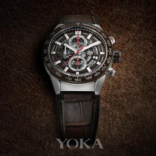 TAG Heuer 泰格豪雅Carrera卡莱拉系列HEUER01腕表 43毫米计时腕表