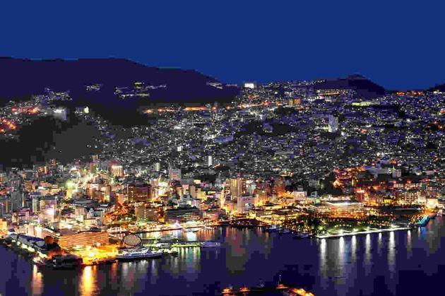 世界新三大夜景之一的长崎夜景