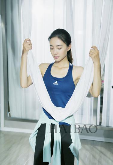 王丽坤做瑜伽