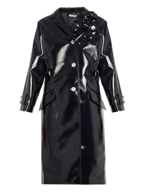 MIU MIU 缀饰人造皮革大衣 约¥23275