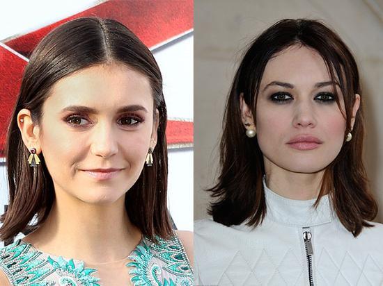 女明星们最近妆发造型 原来发尾全部外翻了