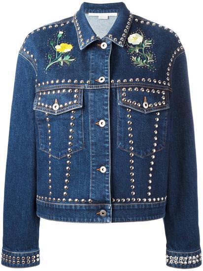 Stella McCartney 花卉铆钉牛仔夹克 约¥13256