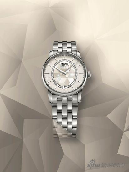 瑞士美度表贝伦赛丽系列绮彩长动能珍珠贝母真钻女士腕表