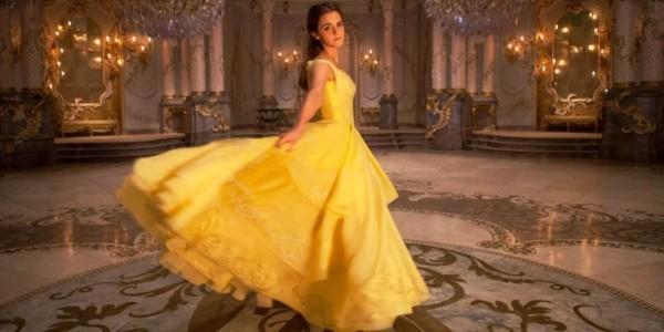 Emma Watson在《美女与野兽》里穿的这件黄色舞会裙