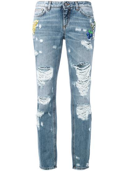 Dolce & Gabbana 仿旧男友风牛仔裤 约¥12318