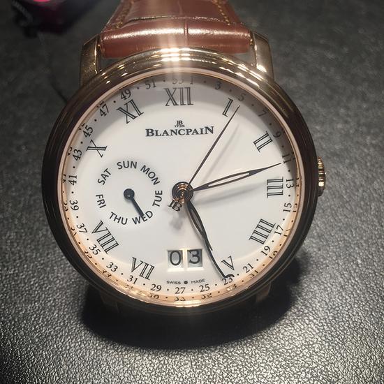 宝珀Blancpain Villeret经典系列周数显示双历腕表