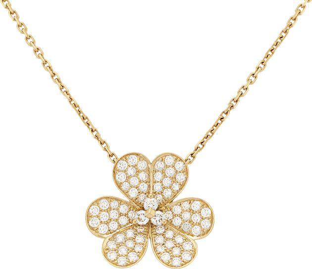 Van Cleef & Arpels梵克雅宝Frivole系列吊坠,大号款式黃K金、钻石