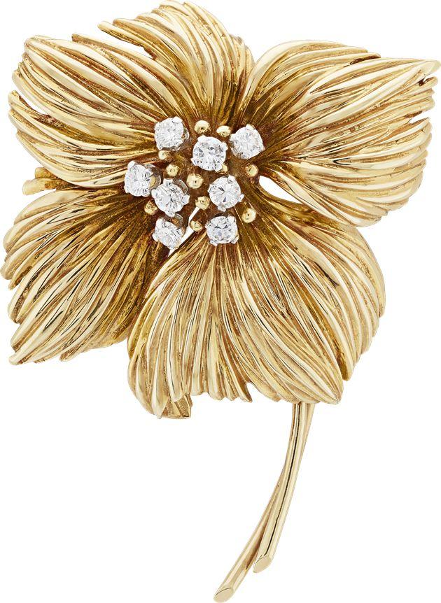 花朵胸针,钻石,1959年,Van Cleef & Arpels梵克雅宝典藏系列。