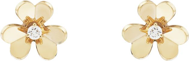 Van Cleef & Arpels梵克雅宝Frivole系列耳钉,迷你款式