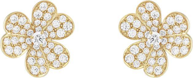 Van Cleef & Arpels梵克雅宝Frivole系列耳环,小号款式黃K金、钻石