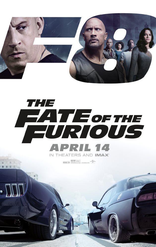 《速度与激情8》将于4月14日上映