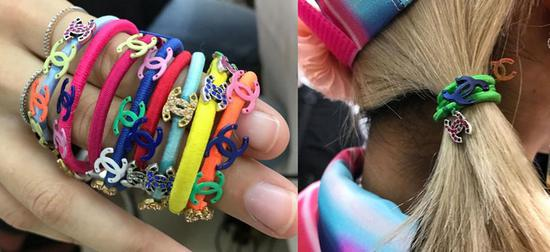 各种颜色的发绳