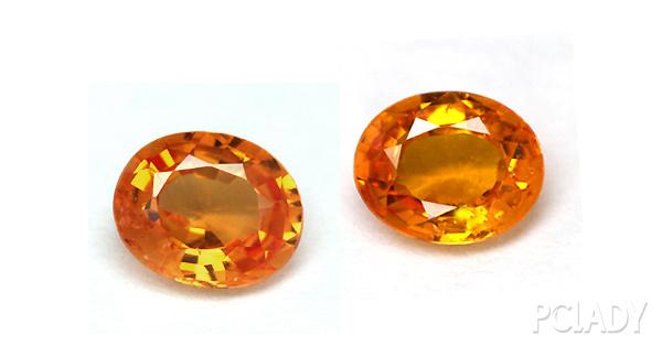 橙色蓝宝石