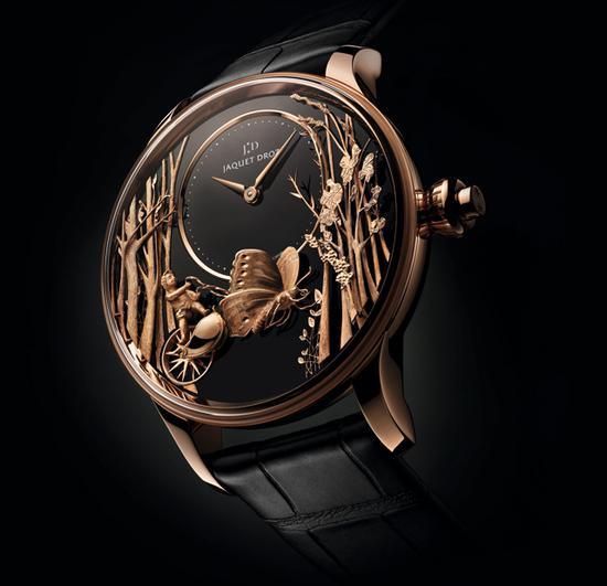 雅克德罗爱之蝴蝶自动玩偶腕表,售价1077000元,限量28枚。