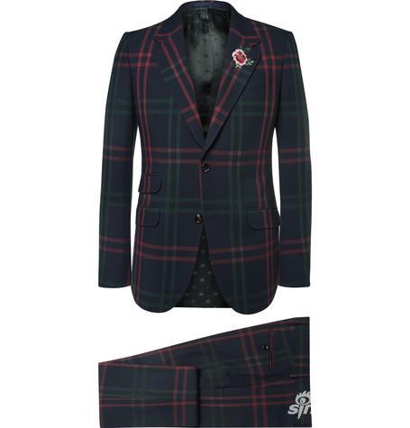 Gucci 格纹西装套装 约¥21,957