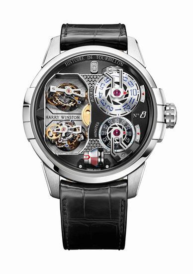 海瑞温斯顿史诗陀飞轮Histoire de Tourbillon 8号腕表,每款限量10只。
