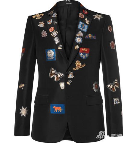 Alexander McQueen 徽章西服外套 约¥19,460
