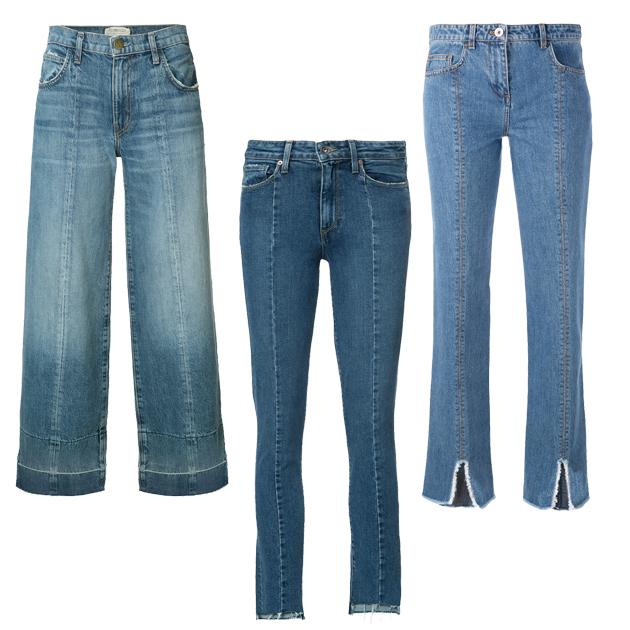 线条修饰牛仔裤单品推荐