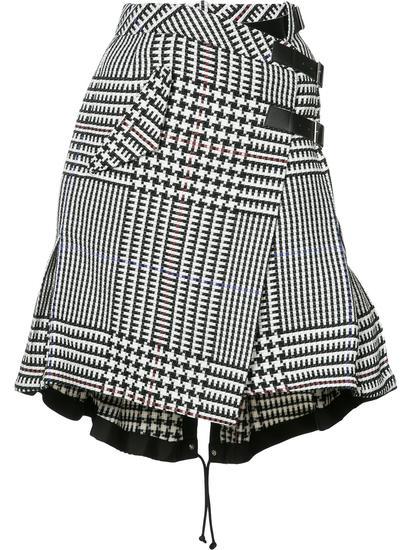 Sacai 千鸟格纹半身裙 约¥14127