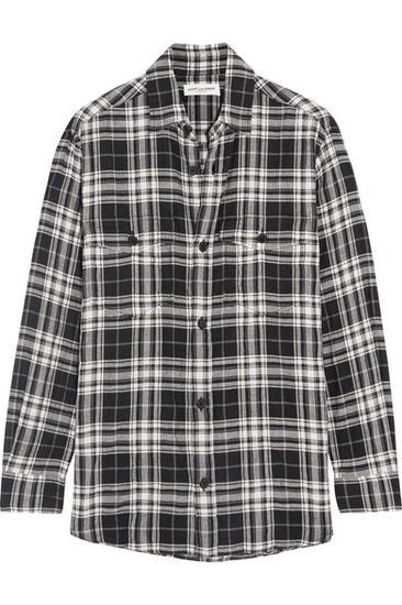 Saint Laurent 方格棉质衬衫 约¥4521