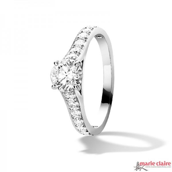 梵克雅宝 Romance单颗钻石戒指