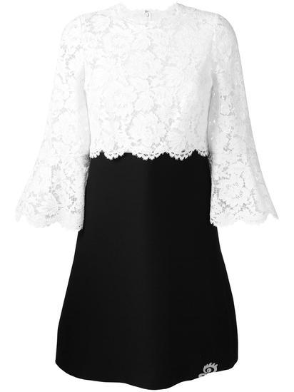 Valentino 蕾丝皱纱连衣裙 约¥32879