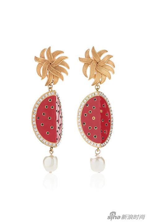 Dolce & Gabbana西瓜造型耳坠