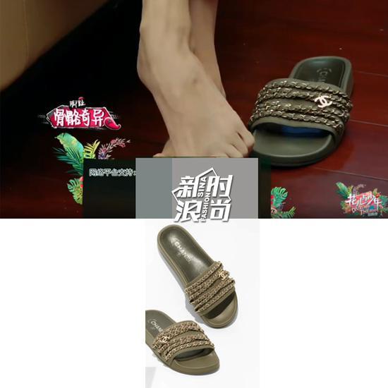 江疏影穿Chanel拖鞋