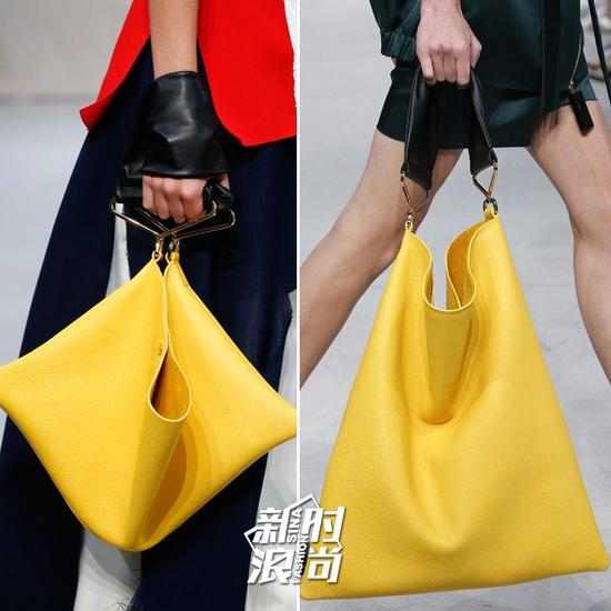 秀场中的黄色包包