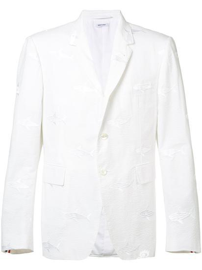 Thom Browne 鲨鱼刺绣西装夹克 约¥32119