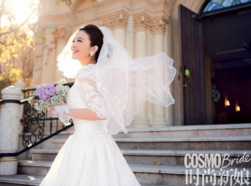 罗曼蒂克的教堂婚礼新娘也可清新可爱