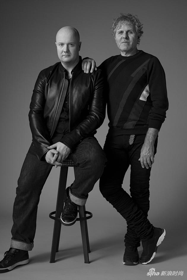Diesel品牌创始人Renzo Rosso及创意总监Andreas Melbostad