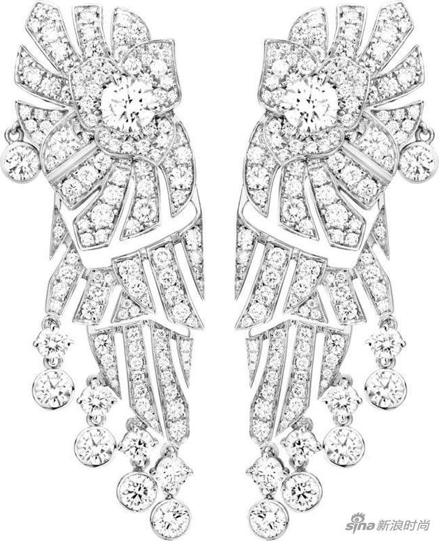 Piaget伯爵Limelight Mediterranean Garden高级珠宝耳环