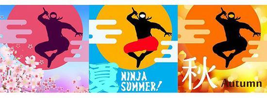 爱知县旅游推广的脸书账号使用忍者形象的手绘头像,还会根据季节更换不同风格