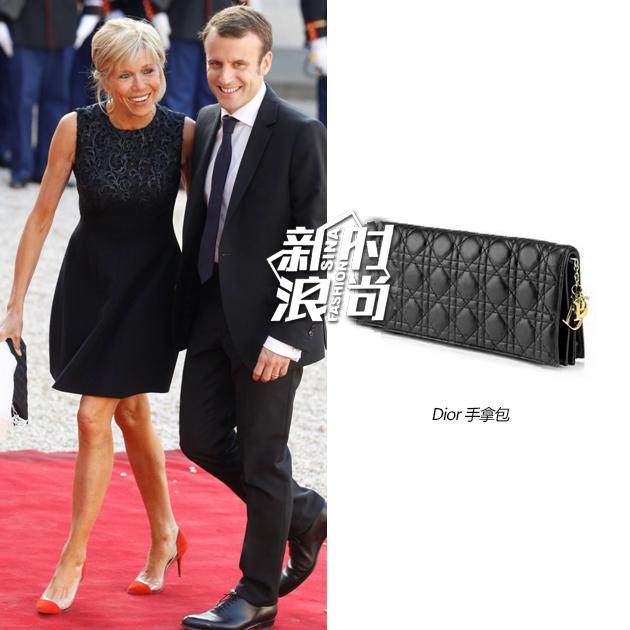 第一夫人的黑色手拿包