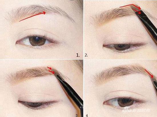画眉步骤(图片来源:时尚网)