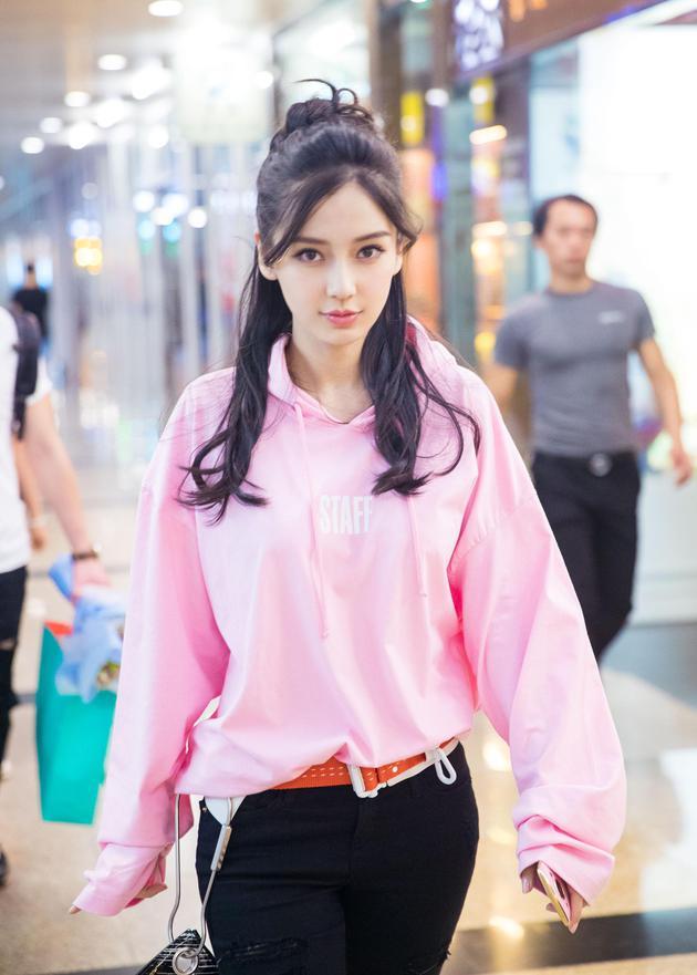 baby桃花色T恤