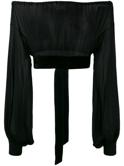 Saint Laurent 露肩罩衫 约¥15182