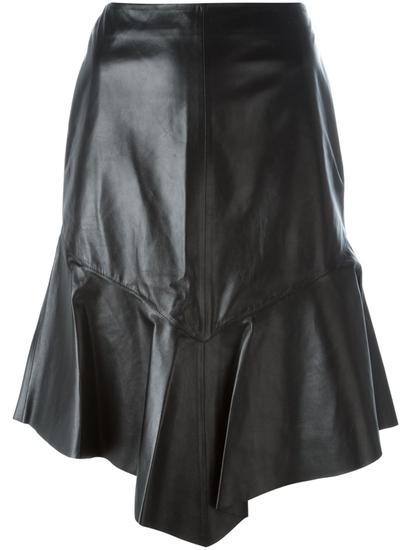 Givenchy 皮革波浪半身裙 约¥25209