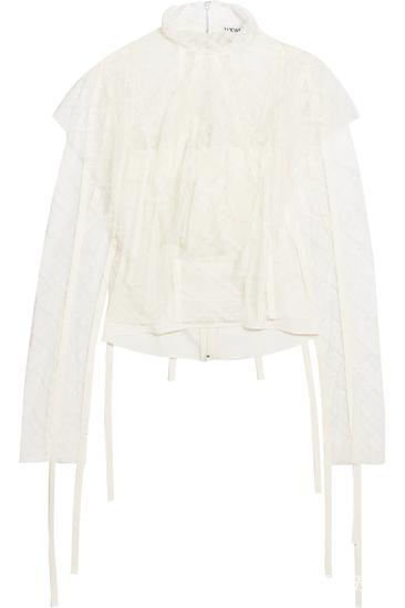 Loewe 蕾丝女衫 约¥21393