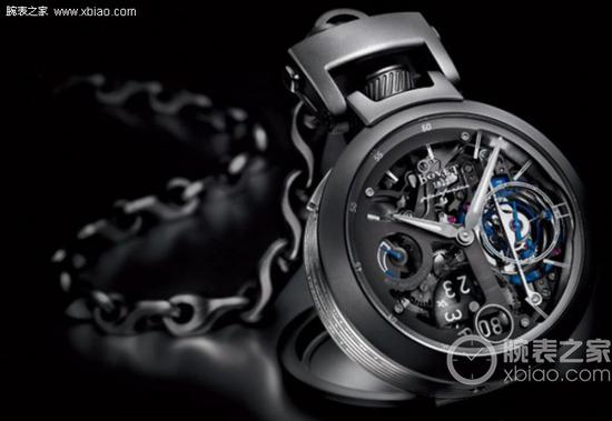 播威Tourbillon Pininfarina Ottanta腕表,摆轮经过蓝色PVD处理