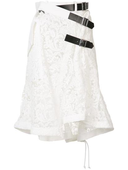 Sacai 蕾丝刺绣半身裙 约¥19019